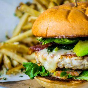Chicken Avocado hamburger